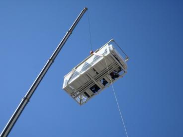 Перемещение оборудования на верх здания