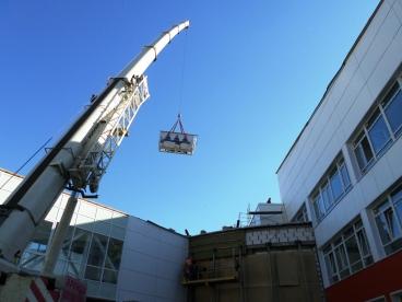 Установка на крышу промышленного кондиционера