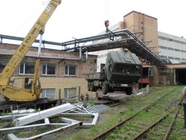 Перевозка чаефасовочной машины IMA C2000 общим весом в 7 тонн