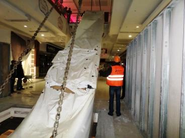 Установка и монтаж эскалатора в торговый центр