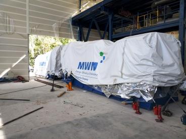 Транспортирование огромных газовых котлов