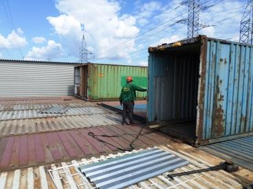 Перестановка контейнеров по второму этажу