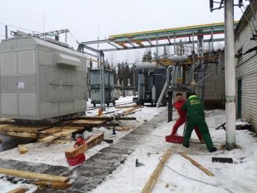 Демонтаж старого трансформатора и транспортировка на утилизацию