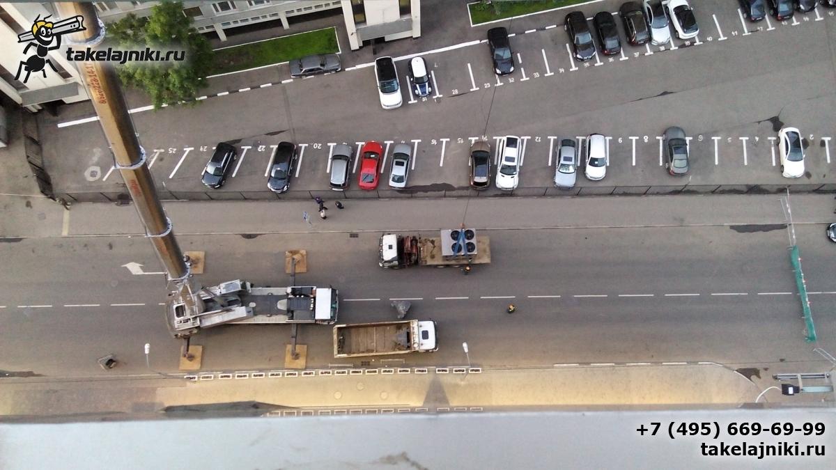Подъём автокранами на крыши тяжёлого груза