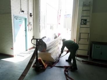 Перемещение экструдера в производственное помещение