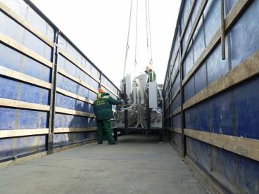 Установка оборудования в кузове грузовика