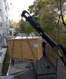Выгрузка технологического оборудования на крышу