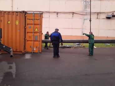 погрузка морских контейнеров