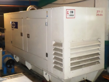 Такелаж и установка дизельного генератора