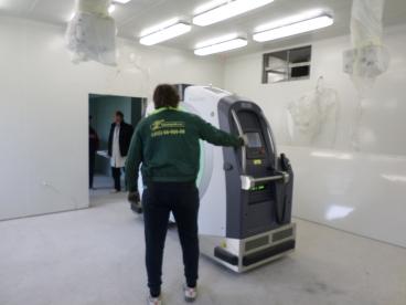 Такелаж и транспортировка тяжёлого томографа
