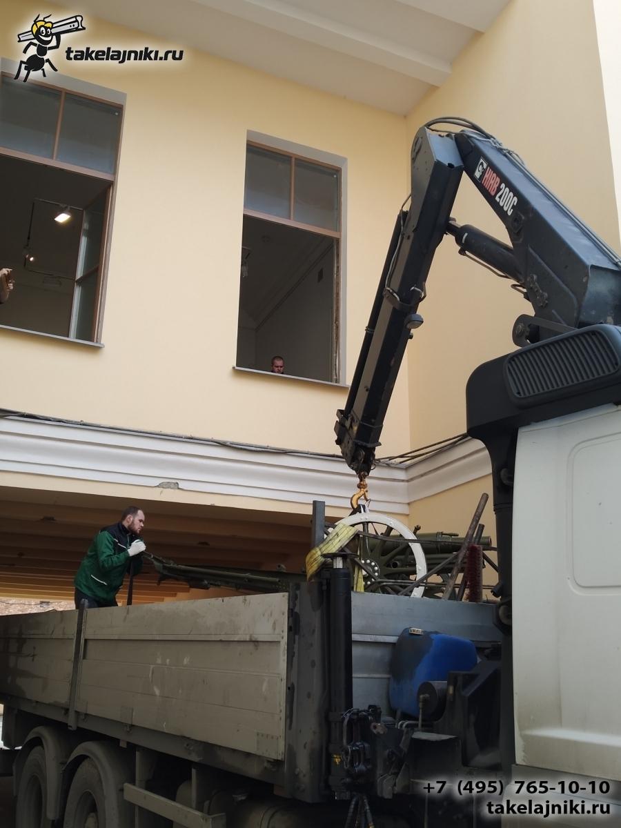 Отгрузка манипуляторной машиной через окно